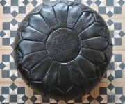 Morrocan Pouffe in Black - Eclectic Cool  - 2