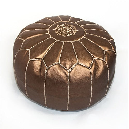 Morrocan Pouffe in Bronze - Eclectic Cool