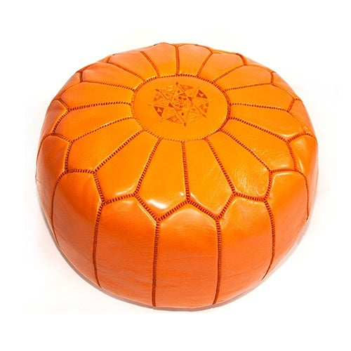 Morrocan Pouffe in Orange - Eclectic Cool
