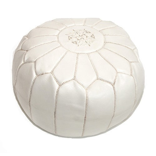 Morrocan Pouffe in White - Eclectic Cool