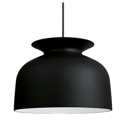GUBI RONDE PENDANT IN MATT CHARCOAL BLACK-LARGE - Eclectic Cool