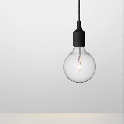 Muuto E27 Pendant Lamp in Black - Eclectic Cool  - 1