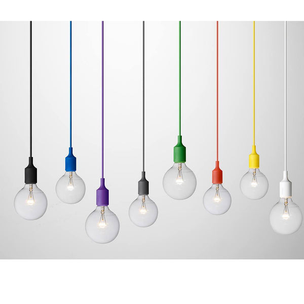 Muuto E27 Pendant Lamp in Yellow - Eclectic Cool  - 1