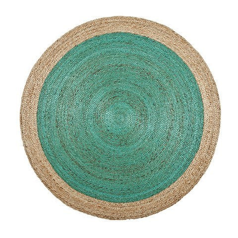 ARMADILLO BRAID WEAVE - PINWHEEL RUG - Eclectic Cool  - 5