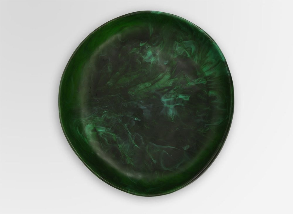DINOSAUR DESIGNS LARGE EARTH BOWL -MALACHITE - Eclectic Cool  - 3