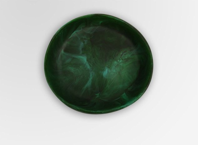 DINOSAUR DESIGNS SMALL EARTH BOWL- MALACHITE - Eclectic Cool  - 2