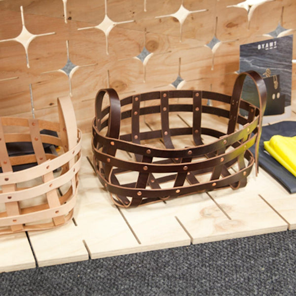BYAMT - Dark Chocolate Leather basket - Eclectic Cool  - 1