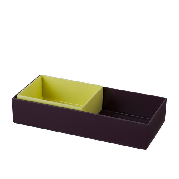 HAY ORGANIZER SET OF 2- AUBERGINE & YELLOW - Eclectic Cool  - 4