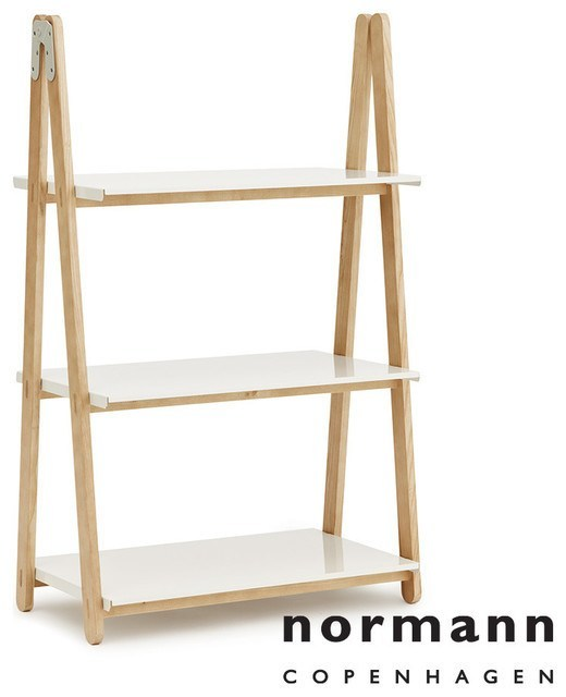 Normann Copenhagen One Step Up Bookcase Low white - Eclectic Cool