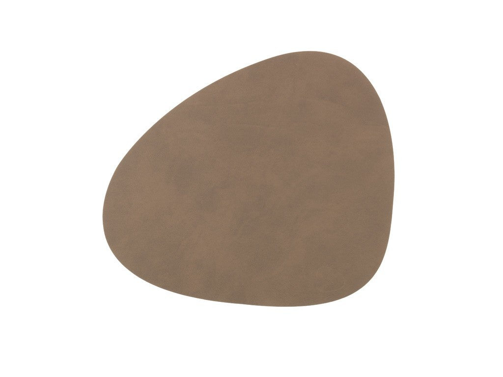 LindDNA TABLEMAT CURVE S  brown/Nupo - Eclectic Cool  - 1