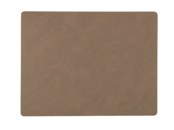 LindDNA TABLEMAT SQUARE L  brown/Nupo - Eclectic Cool  - 1