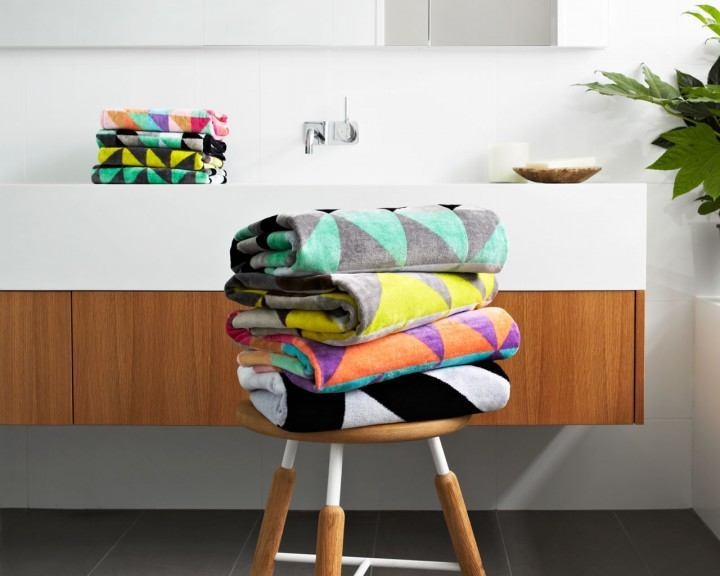 Ziporah - Dove Bath Sheet - Eclectic Cool  - 5