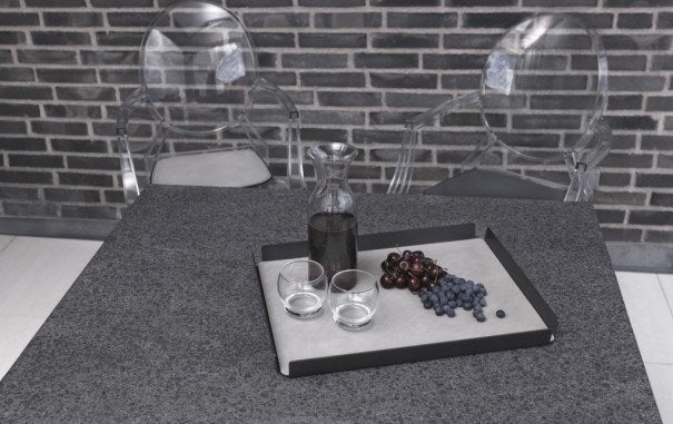 LindDNA TRAY SQUARE L antracit aluminium antracit/Nupo - Eclectic Cool  - 2