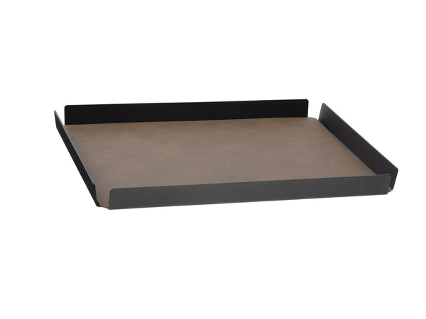LindDNA TRAY SQUARE L antracit aluminium brown/Nupo - Eclectic Cool