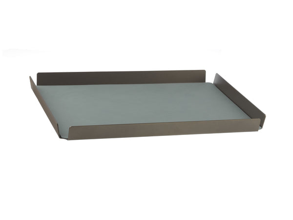 LindDNA TRAY SQUARE L bronze aluminium pastel green/Nupo - Eclectic Cool  - 1