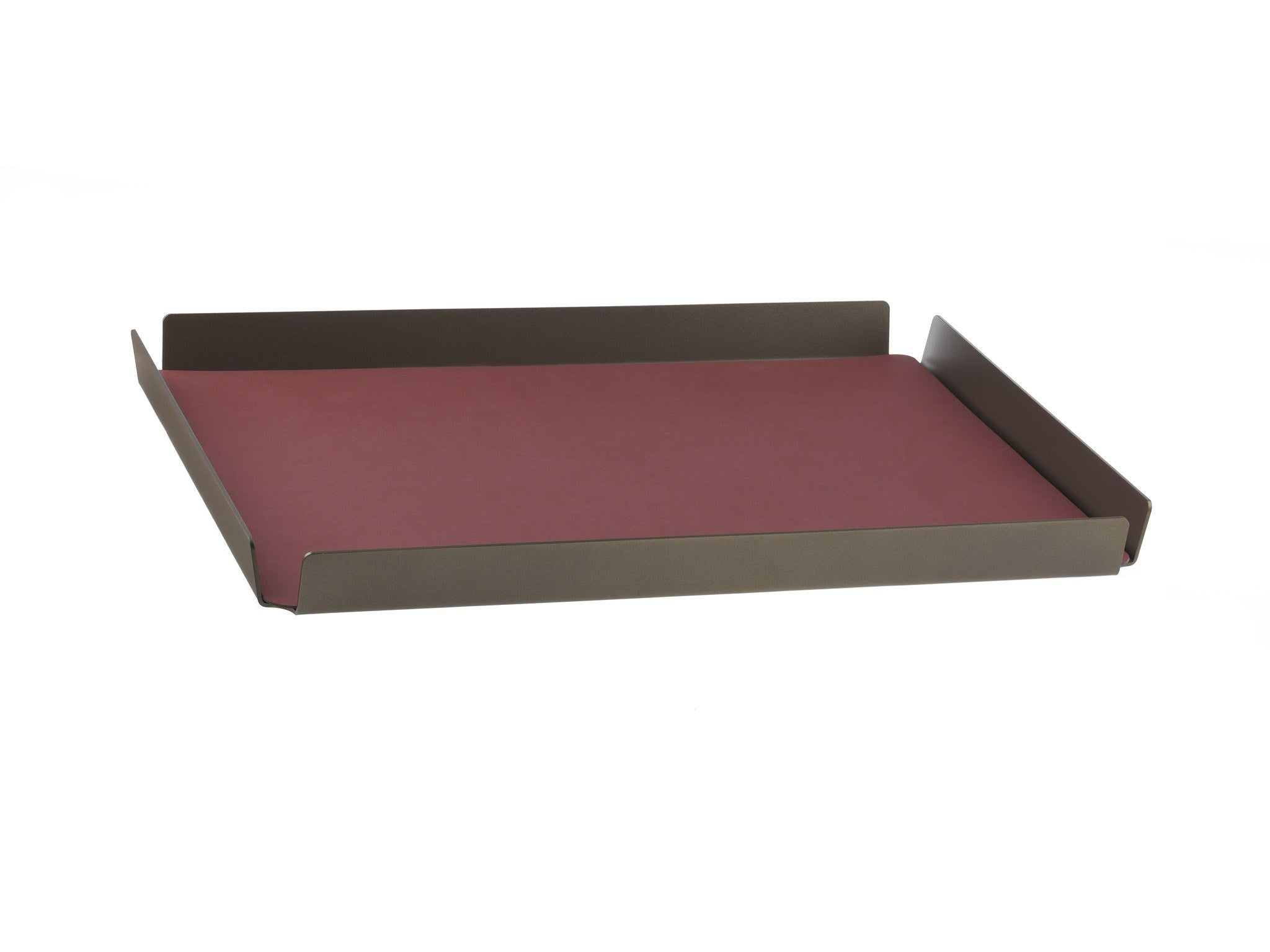 LindDNA TRAY SQUARE L bronze aluminium red/Nupo - Eclectic Cool  - 1