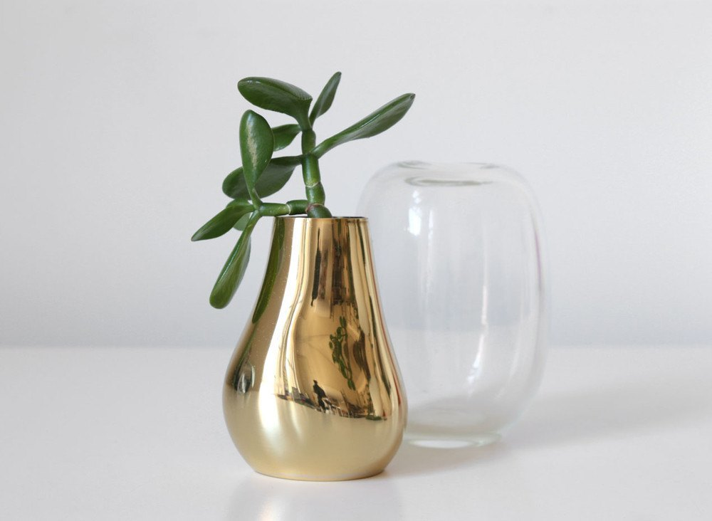 DINOSAUR DESIGNS BRASS LIQUID VASE SM - Eclectic Cool  - 2