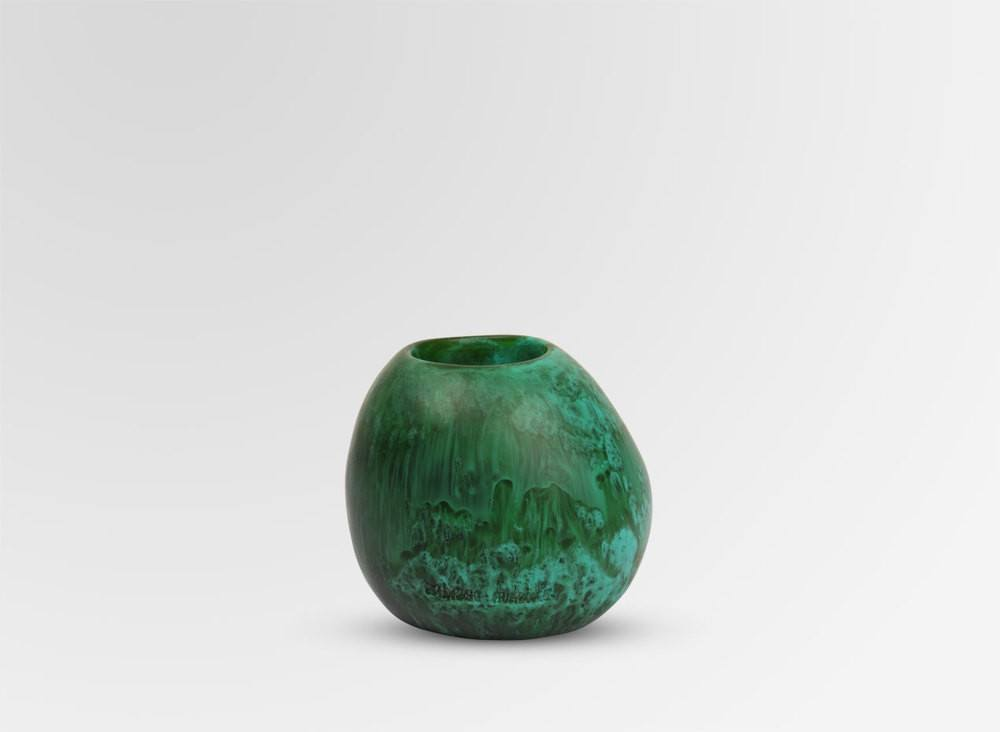 DINOSAUR DESIGNS SMALL STONE VASE-MALACHITE - Eclectic Cool  - 1