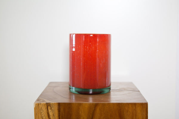 HENRY DEAN CYLINDER VASE IN FIRE - Eclectic Cool
