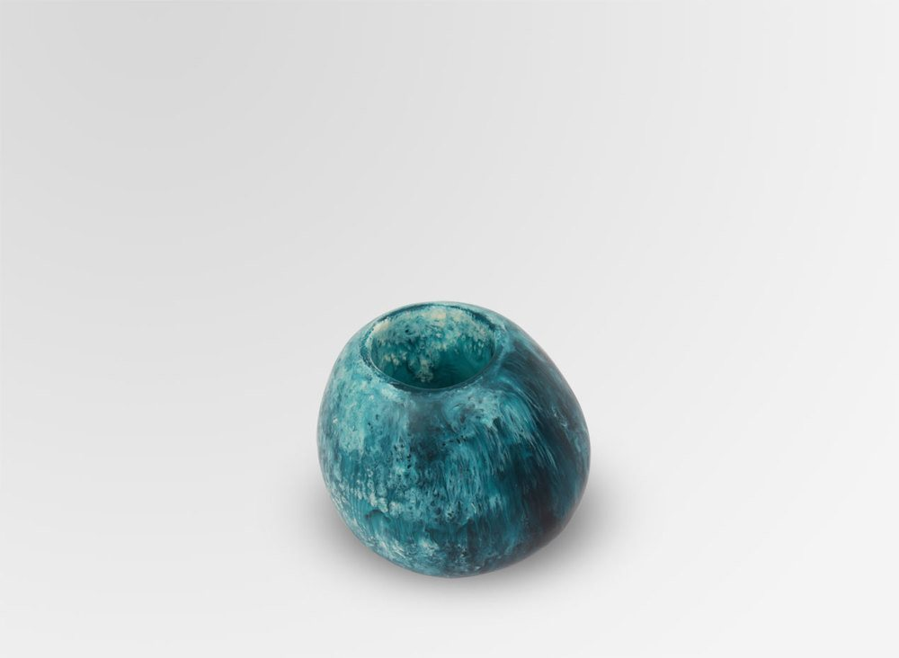 SMALL STONE VASE-MOODY BLUE - Eclectic Cool  - 2