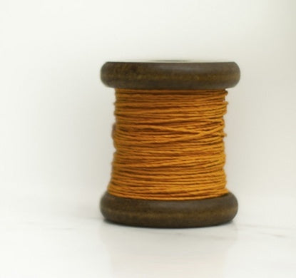 PAPER TWINE ON A NEW STAINED BOBBIN IN ORANGE - Eclectic Cool  - 3