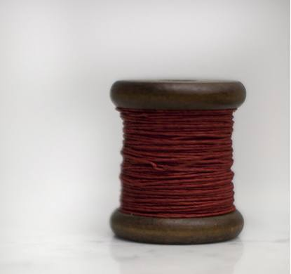 PAPER TWINE ON A NEW STAINED BOBBIN IN RED - Eclectic Cool  - 4
