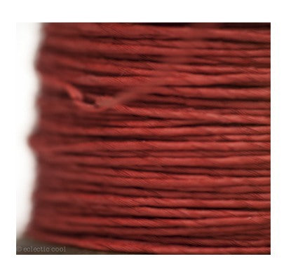 PAPER TWINE ON A NEW STAINED BOBBIN IN RED - Eclectic Cool  - 2