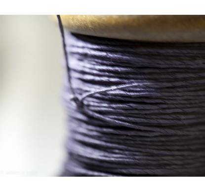 PAPER TWINE ON AN NEW STAINED BOBBIN IN AUBERGINE - Eclectic Cool  - 3