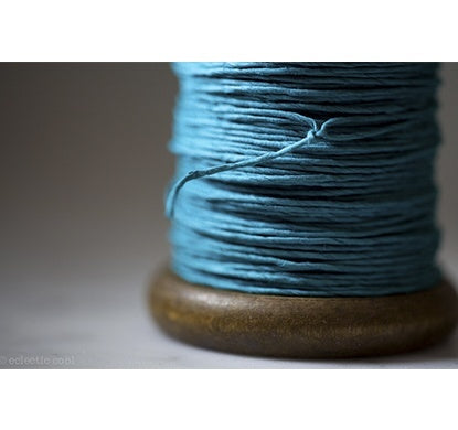 PAPER TWINE ON NEW STAINED BOBBIN IN TURQUOISE - Eclectic Cool  - 2
