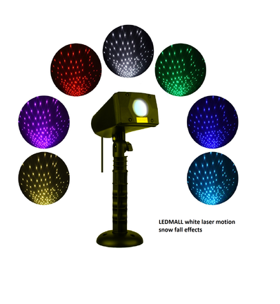 LEDMALL White Laser Christmas Lights with Snow fall motion effects is here!