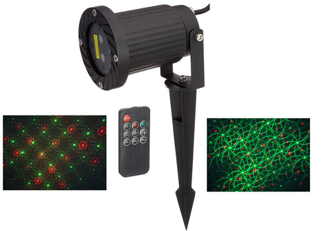 Remote Control 2 in 1 motion firefly with patterns Laser Christmas and LED Garden Light with Green and Red Laser and White LED
