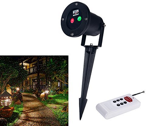 Remote Controllable Laser Christmas, Garden and Landscape Lights Red and Green Laser (static and flash mode) - LedMall