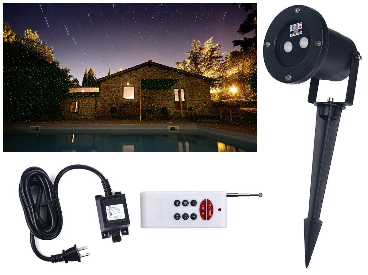 Remote Controllable Laser Christmas, Garden And Landscape Lights Red And Green Laser (static And Flash Mode)