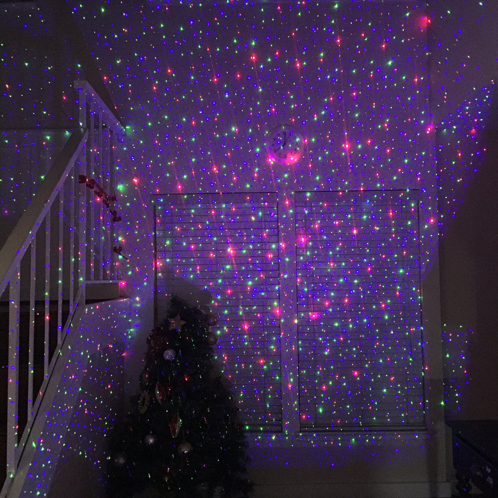 Remote Controllable Rgb Laser Christmas Lights With Red