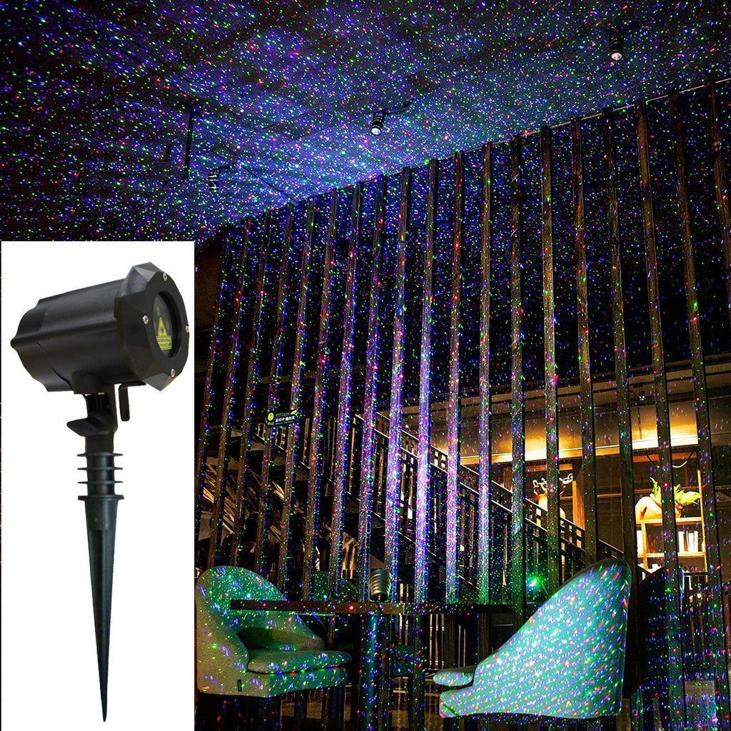 waterproof pin outdoor christmas remote for lighting show with light control by and garden lights spotlight blue red clustars green laser projector