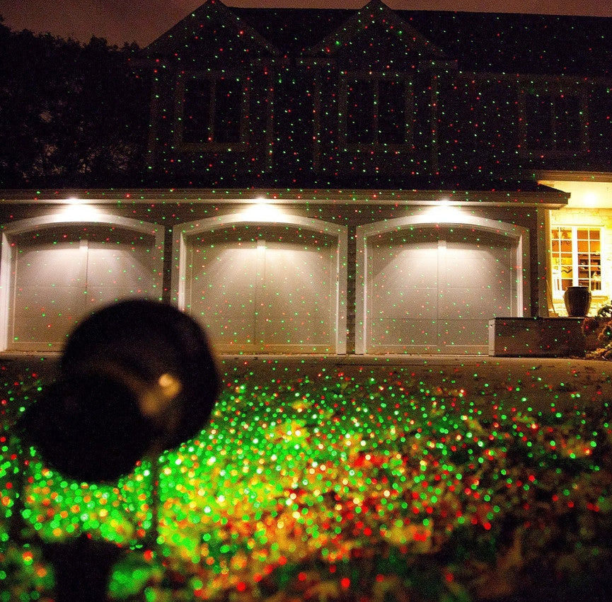remote controllable laser christmas garden and landscape lights red and green laser static and - Firefly Christmas Lights
