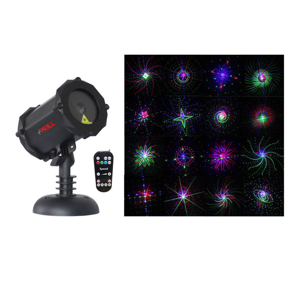 LedMAll® Bluetooth RGB Firefly with Large motion patterns Laser Christmas Lights, decorative, landscape and garden projector with remote control and timer - LedMall