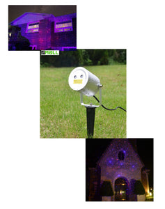 Blue and Red Moving Firefly Remote Control Laser Lights For Events, Parties and Landscape Decor. (motion) - LedMall