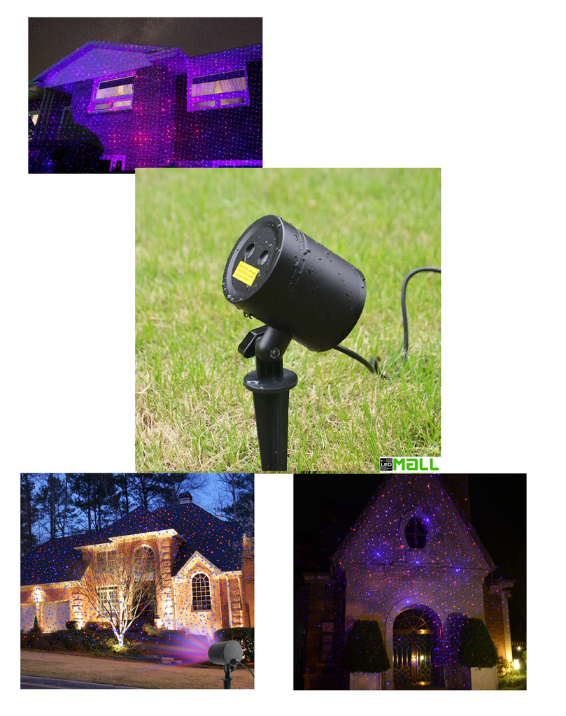 Blue & Red Remote Control Laser Lights For Events, Parties & Landscape Decor. (static) - LedMall