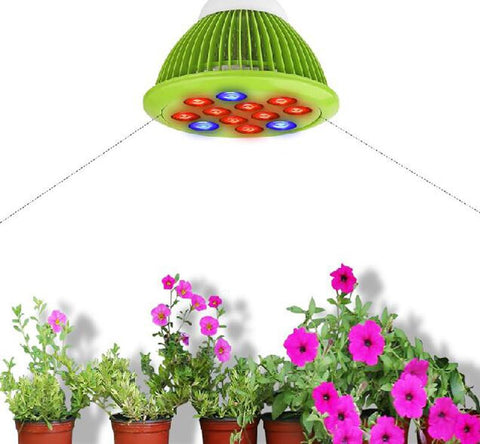 LedMall Full Spectrum LED Plant Growing light, blue, red for Hydropoic Green House organic plants E26 12W (Green)