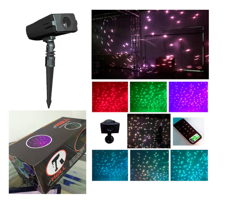 LEDMALL Full Spectrum Motion Star effect 7 color WHITE Laser Christmas and Decorative Lights