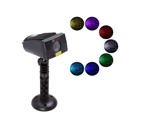 LedMAll® Motion Snow Fall Full Spectrum Star Effects 7 color WHITE Laser Christmas Lights, and Decorative Lights with Remote control - LedMall