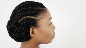 Goddess Braids On Natural Hair Finished Hairstyle Tutorial Part 4 Of 5 Howtoblackhair Com