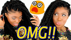 havana marley twists crochet braids no conrow hairstyle tutorial