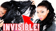 invisible ponytail with weave extensions