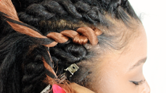 senegalese twist cornrow braids for beginners step by step tutorial