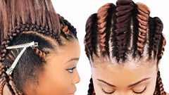 tree braids cornrows for beginners hair tutorial