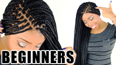 how to do micro box braid for beginners