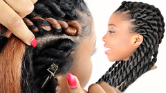 senegalese twist cornrow braids step by step tutorial for beginners