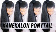 high ponytail kanekalon braiding hair nicki minaj inspired